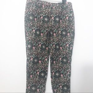 J. Crew blue and green floral pants